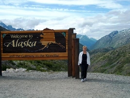 Kate at Alaskan Border